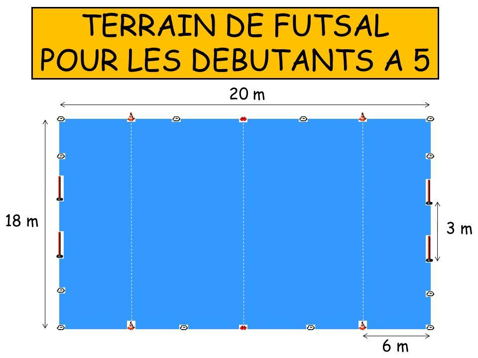TERRAIN DE FUTSAL POUR LES DEBUTANTS A 5
