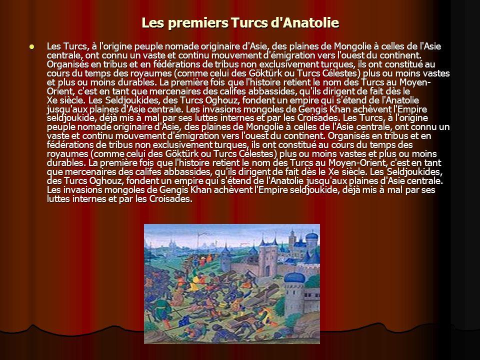 Les premiers Turcs d Anatolie
