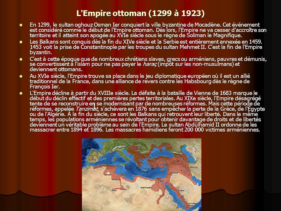 L Empire ottoman (1299 à 1923)