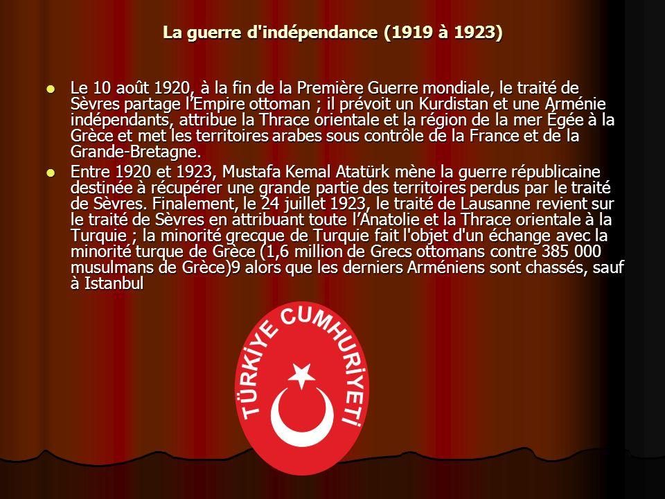 La guerre d indépendance (1919 à 1923)