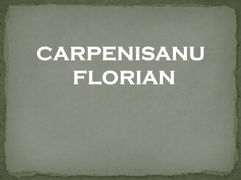 CARPENISANU FLORIAN