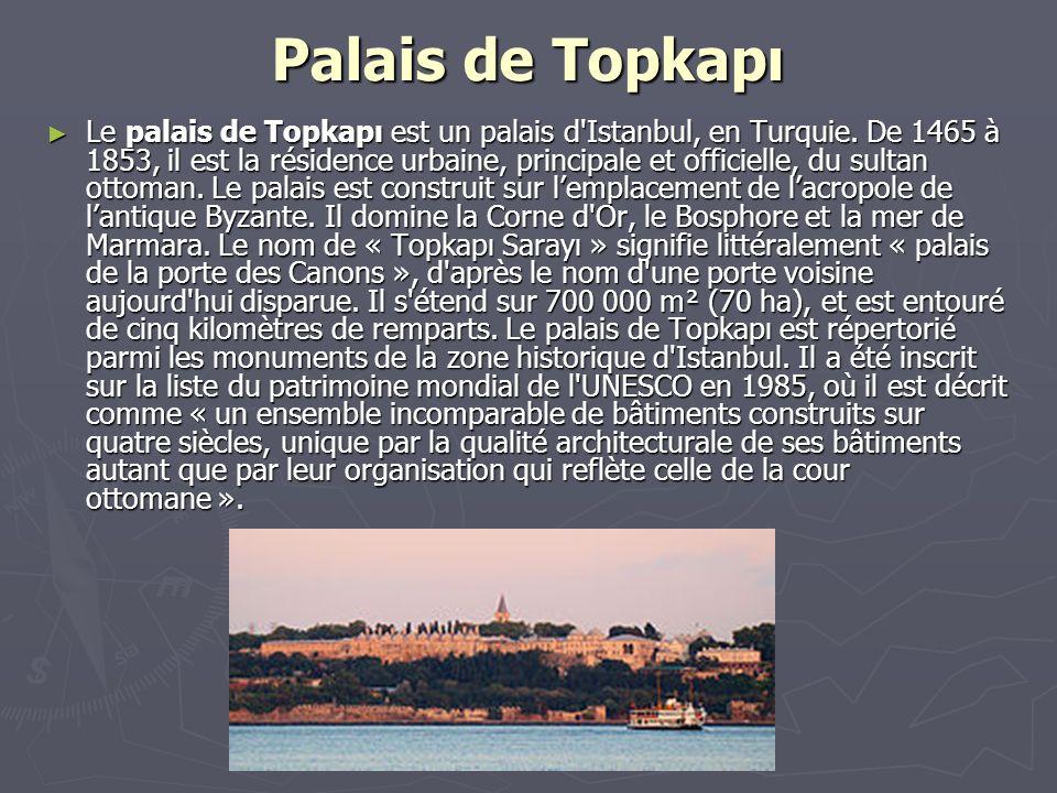 Palais de Topkapı