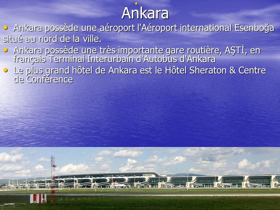 Ankara possède une aéroport l Aéroport international Esenboğa