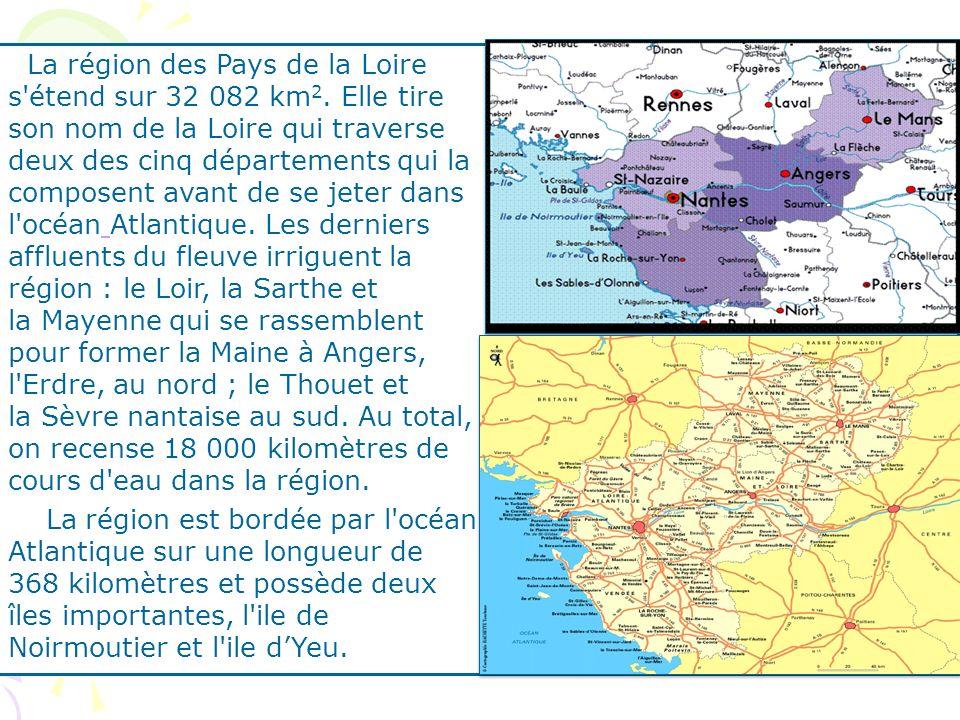 La région des Pays de la Loire s étend sur 32 082 km2