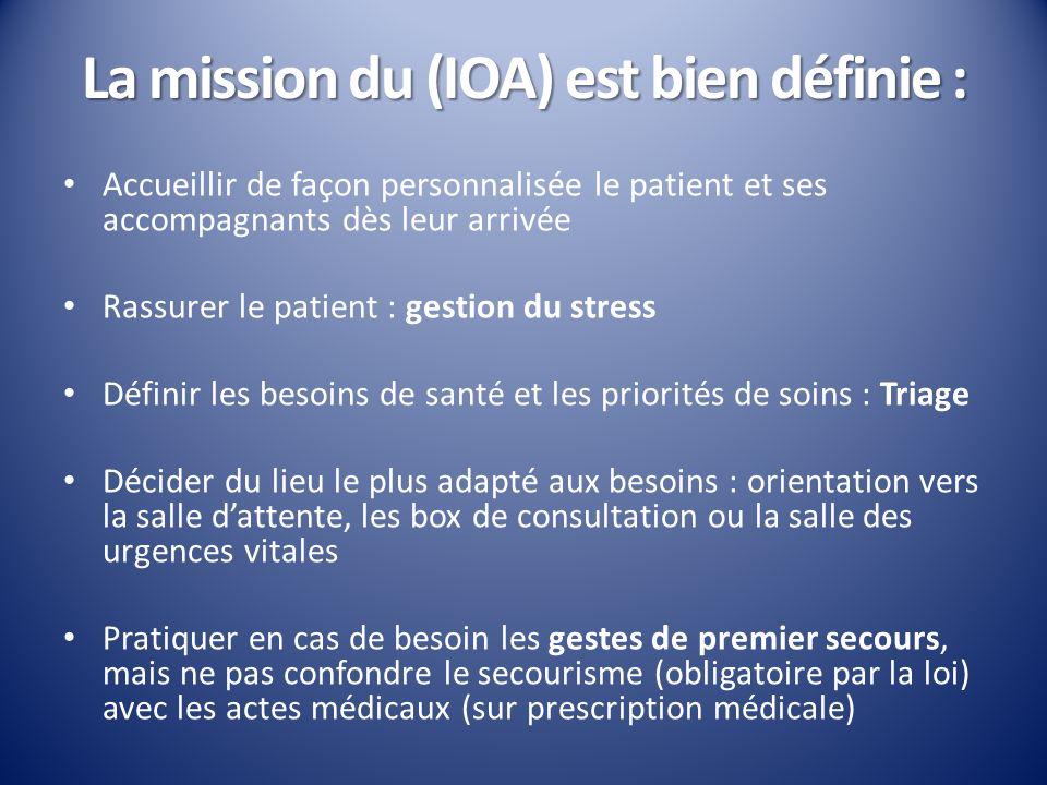 La mission du (IOA) est bien définie :