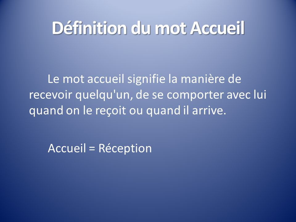 accueil et instalation d un patient ppt video online