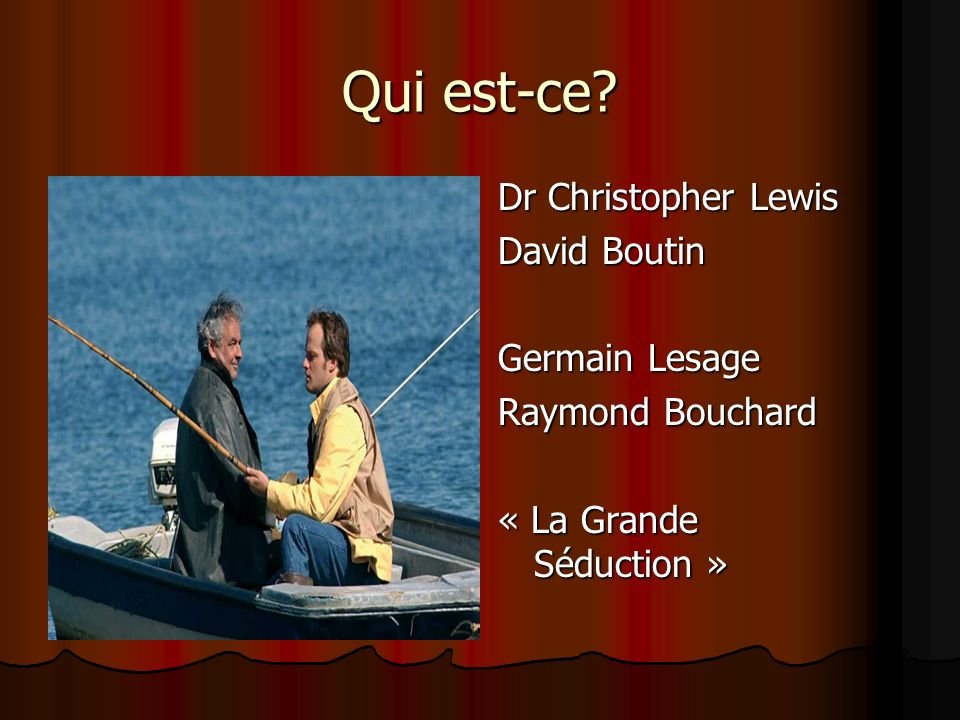 Qui est-ce Dr Christopher Lewis David Boutin Germain Lesage