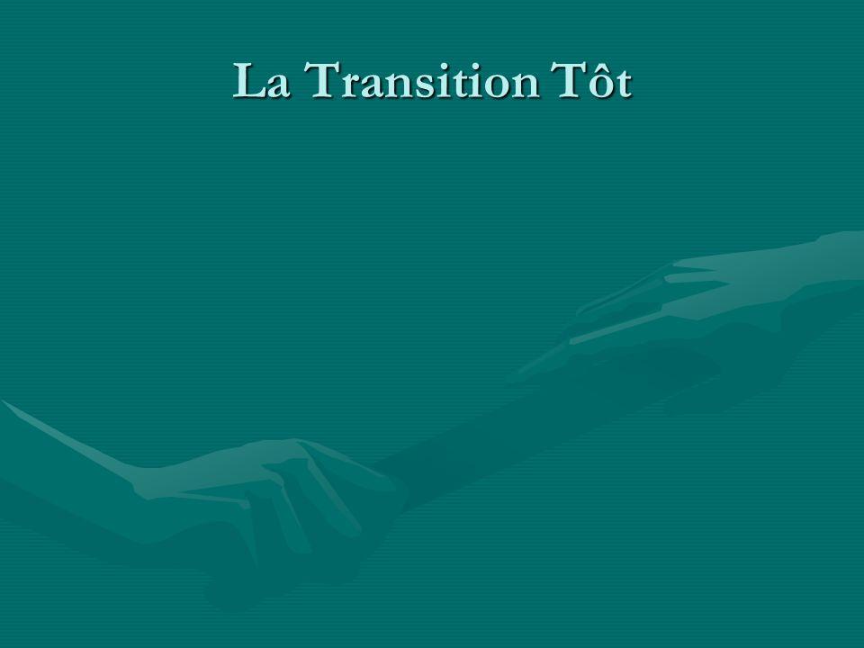 La Transition Tôt Ici il y a une amélioration dans le succès de natalité avec une amélioration médicale et higiène.
