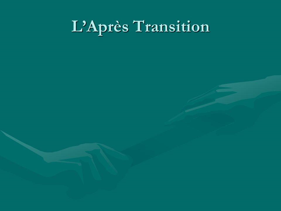 L'Après Transition Très petit nombre de jeunes nés ainsi qu'une diminution dans la population.