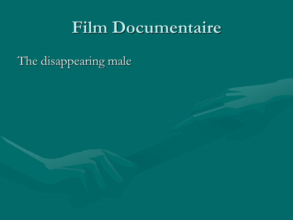 Film Documentaire The disappearing male