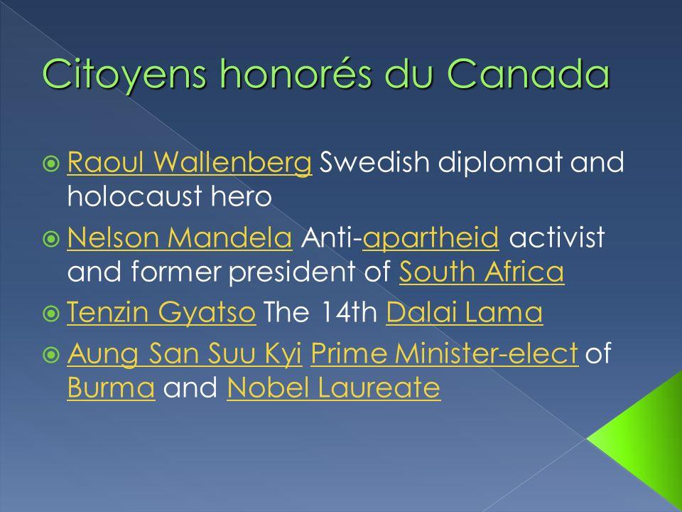 Citoyens honorés du Canada