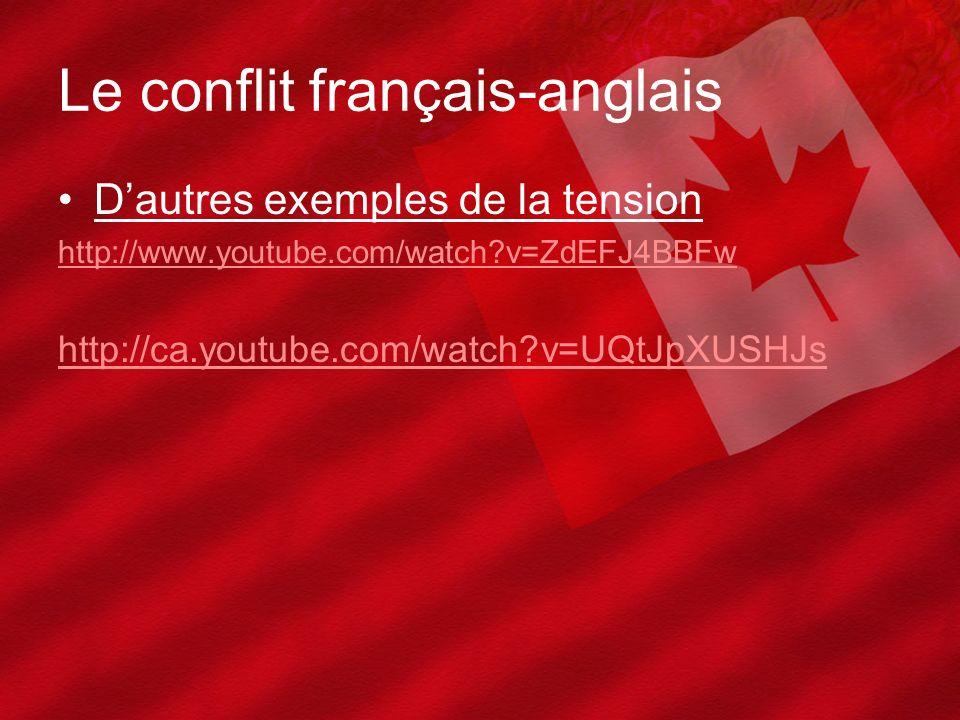 Le conflit français-anglais