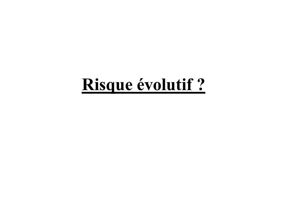 Risque évolutif