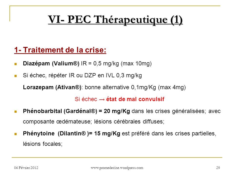 VI- PEC Thérapeutique (1)
