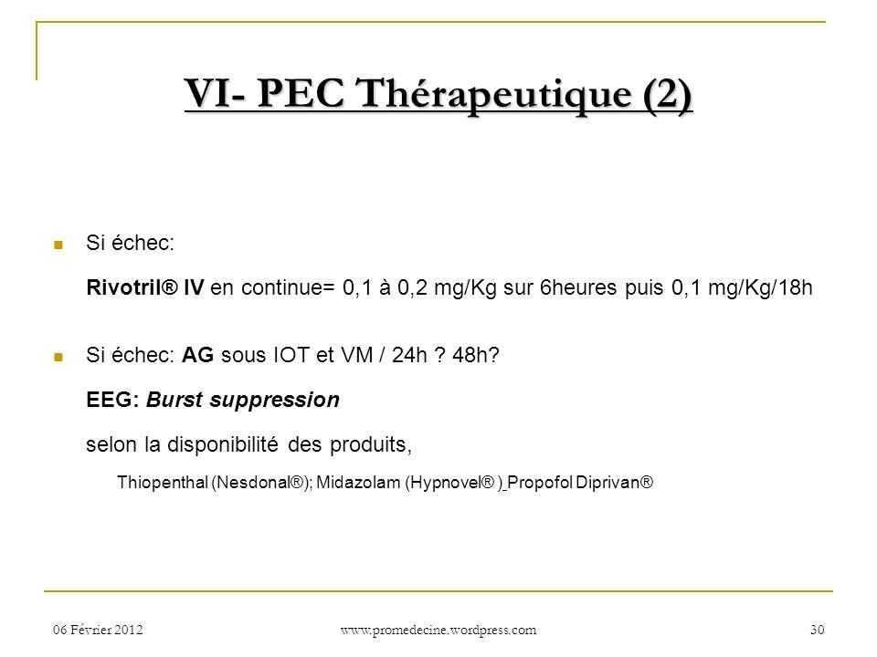 VI- PEC Thérapeutique (2)