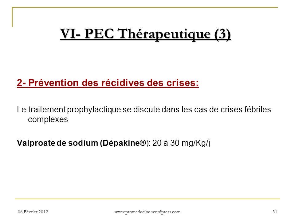 VI- PEC Thérapeutique (3)
