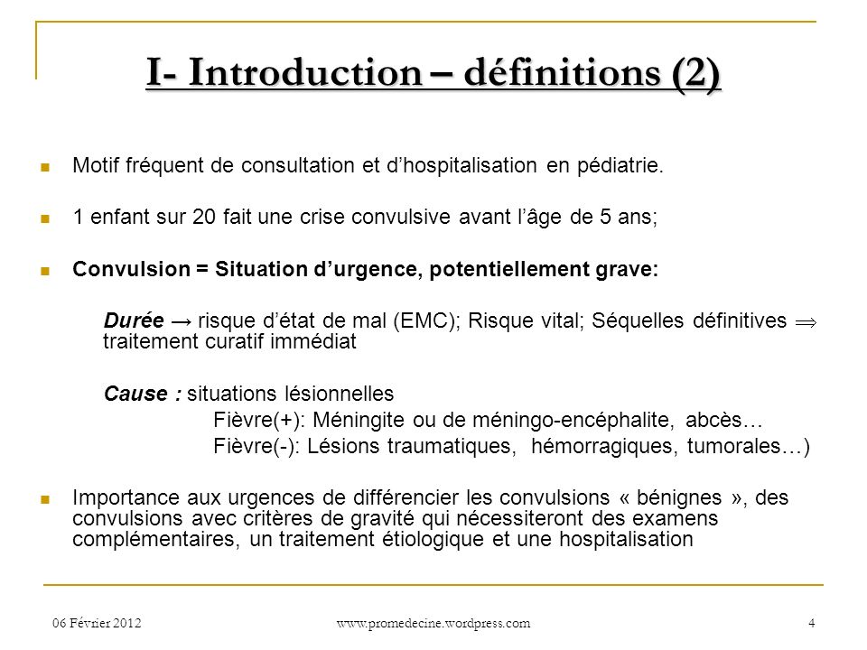 I- Introduction – définitions (2)