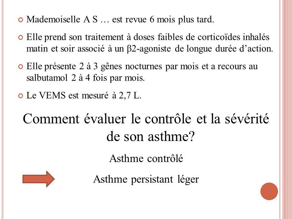 Comment évaluer le contrôle et la sévérité de son asthme
