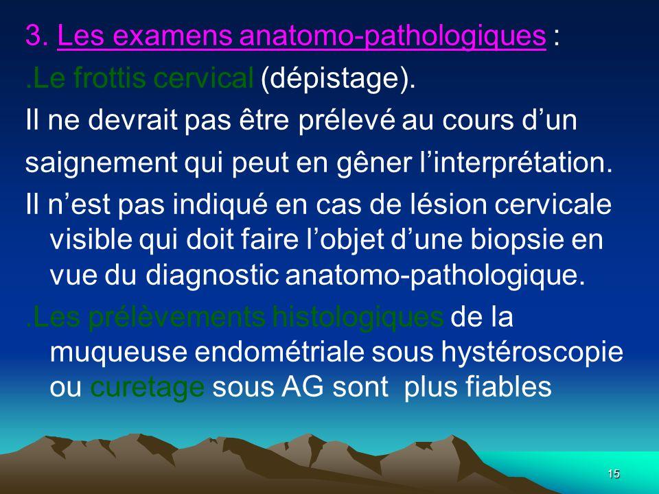 3. Les examens anatomo-pathologiques :