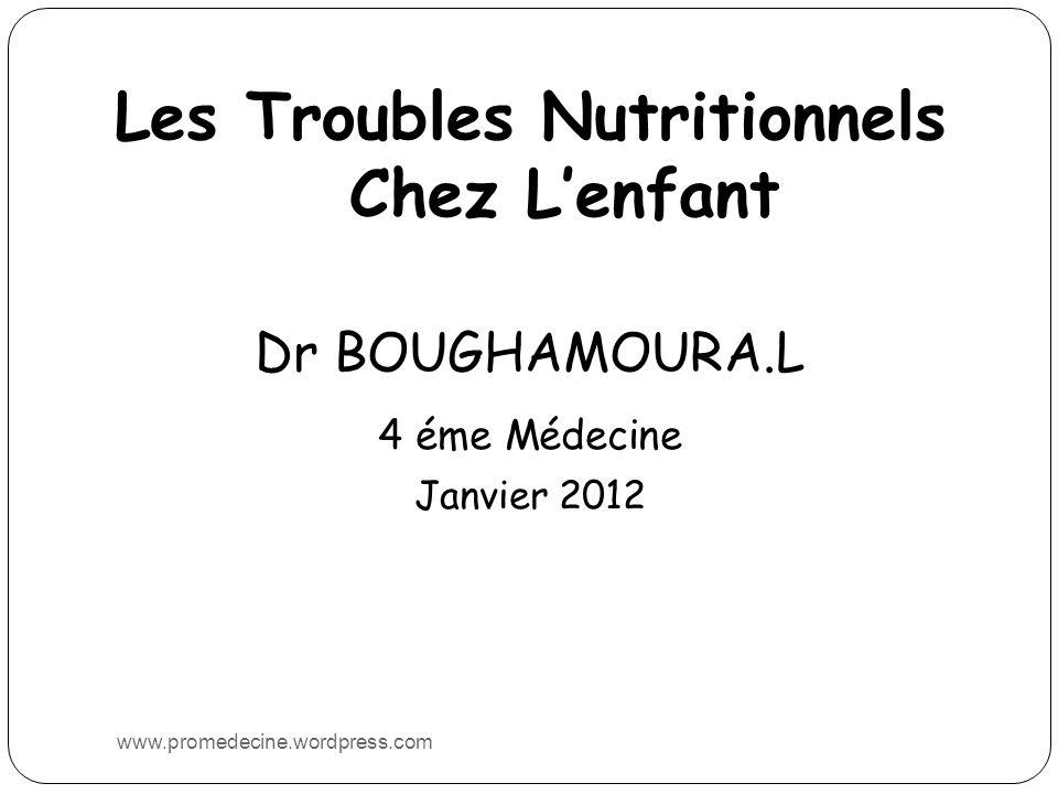 Les Troubles Nutritionnels Chez L'enfant