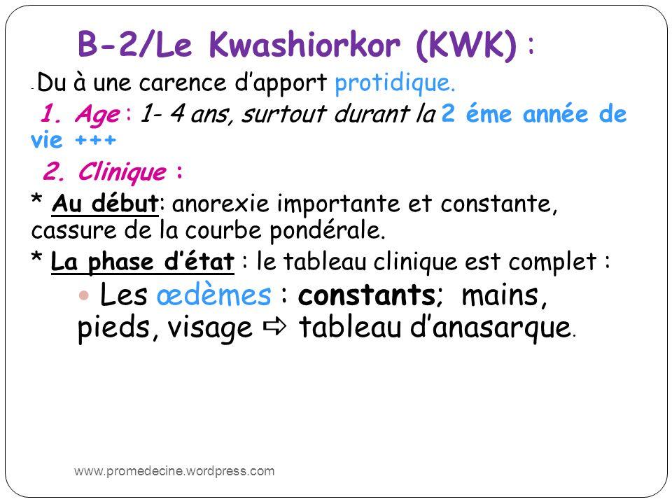 B-2/Le Kwashiorkor (KWK) :