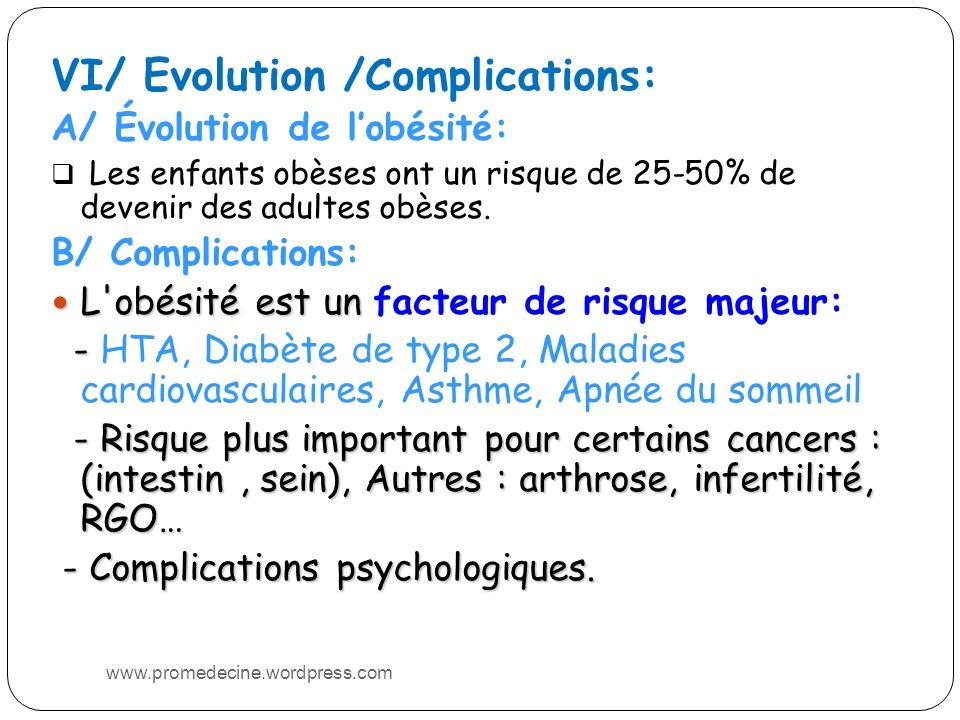VI/ Evolution /Complications:
