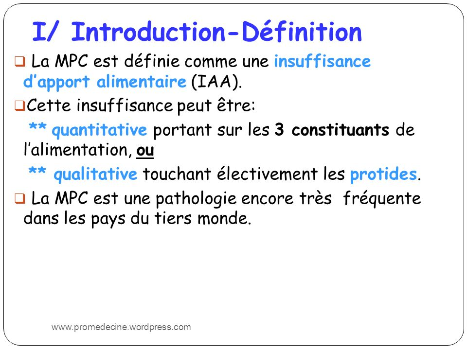 I/ Introduction-Définition