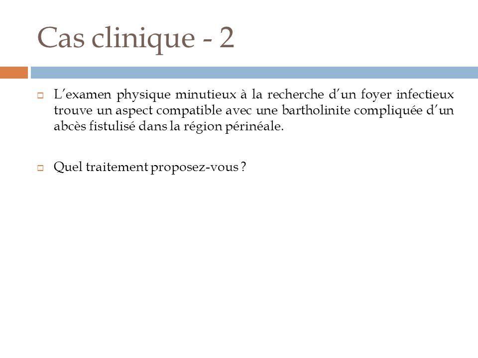 Cas clinique - 2