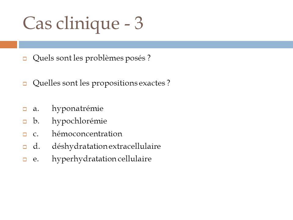 Cas clinique - 3 Quels sont les problèmes posés
