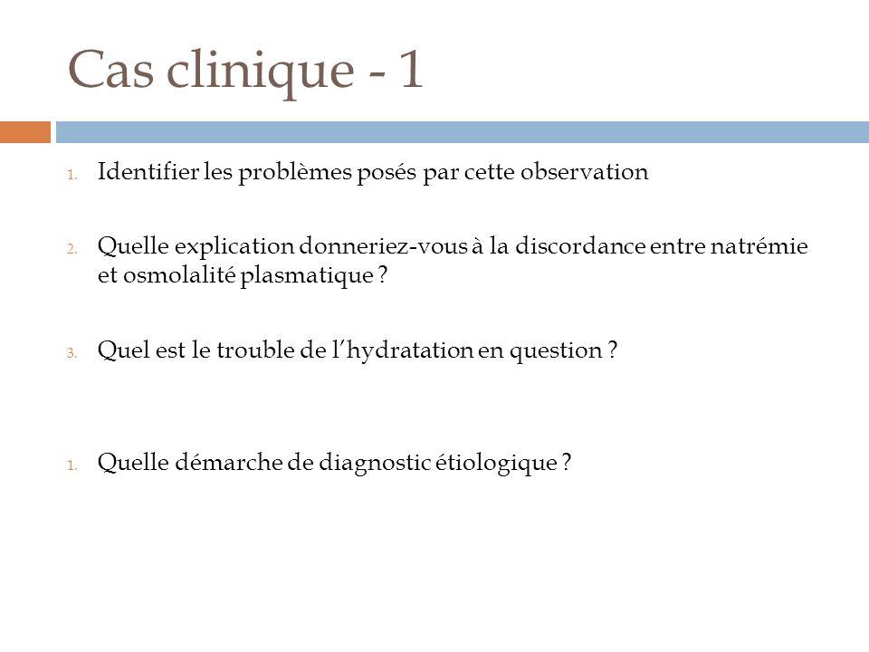 Cas clinique - 1 Identifier les problèmes posés par cette observation