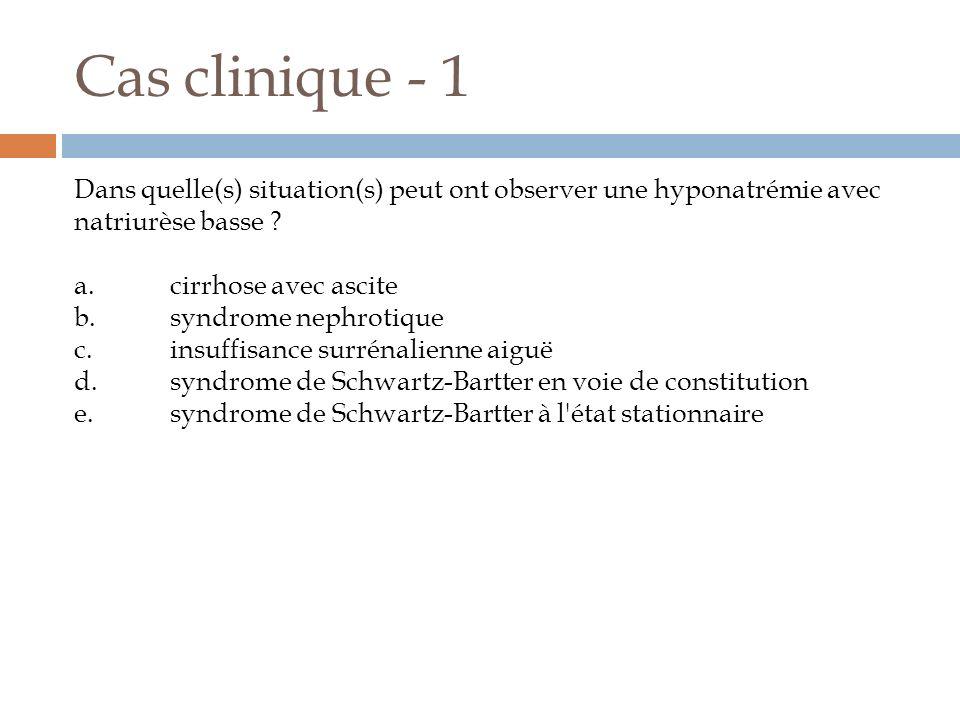 Cas clinique - 1