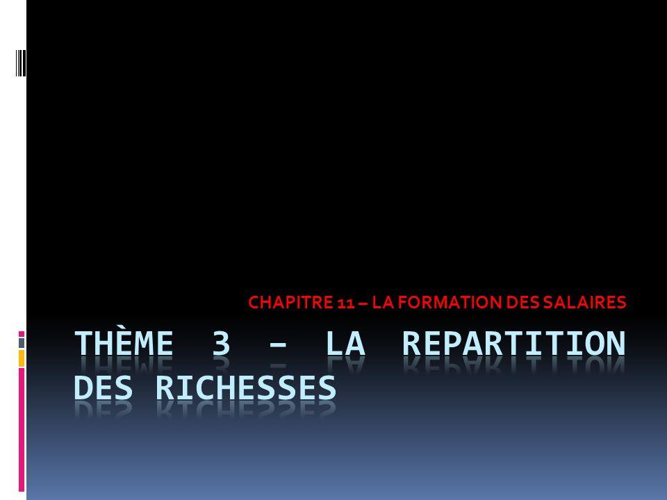 THÈME 3 – LA REPARTITION DES RICHESSES