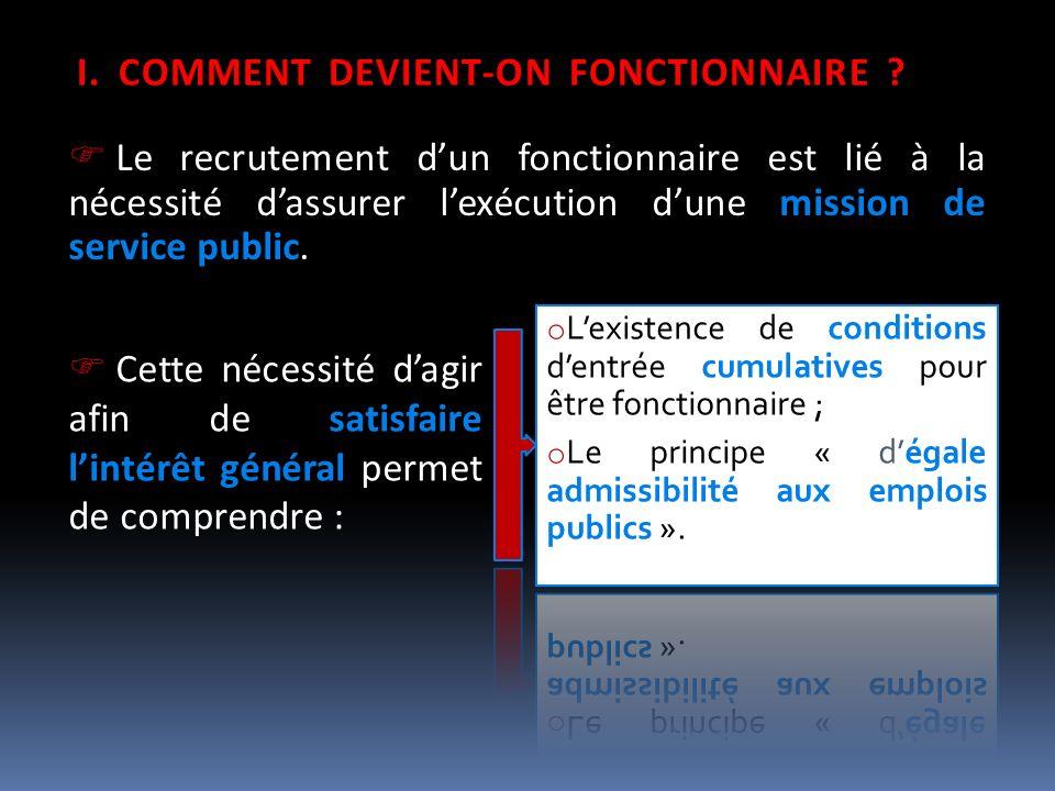 COMMENT DEVIENT-ON FONCTIONNAIRE