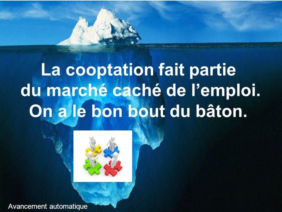 La cooptation fait partie du marché caché de l'emploi.
