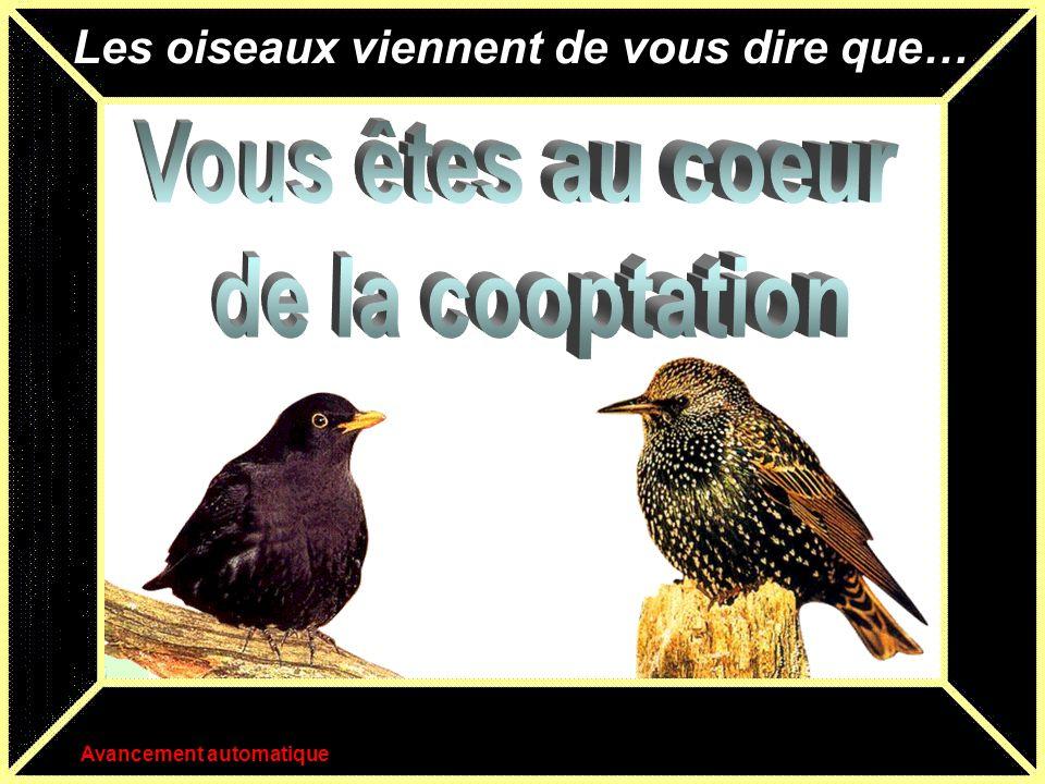Vous êtes au coeur de la cooptation