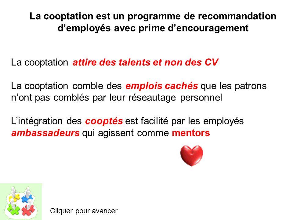 La cooptation est un programme de recommandation