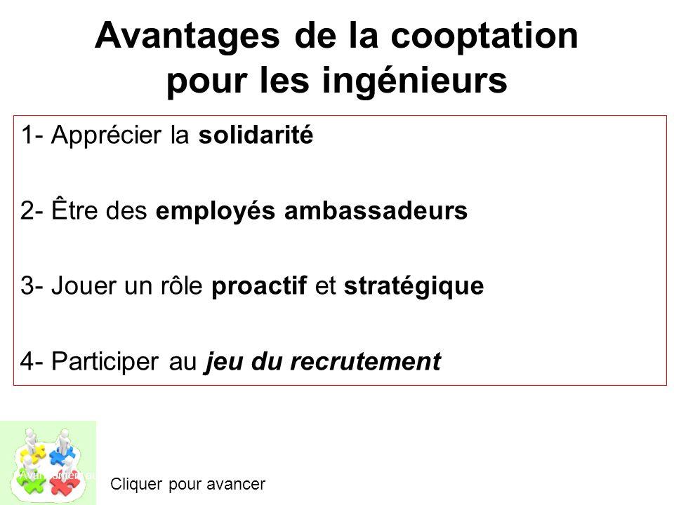 Avantages de la cooptation pour les ingénieurs