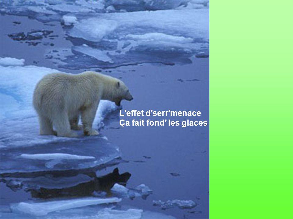 L effet d serr menace Ça fait fond les glaces