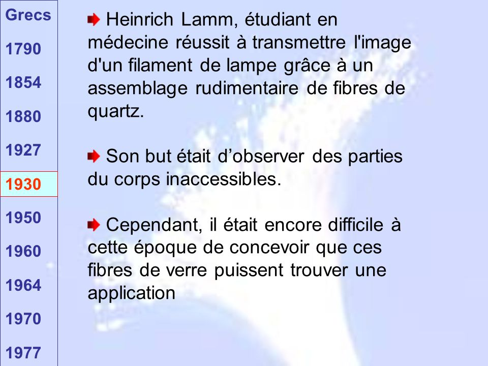 Son but était d'observer des parties du corps inaccessibles.