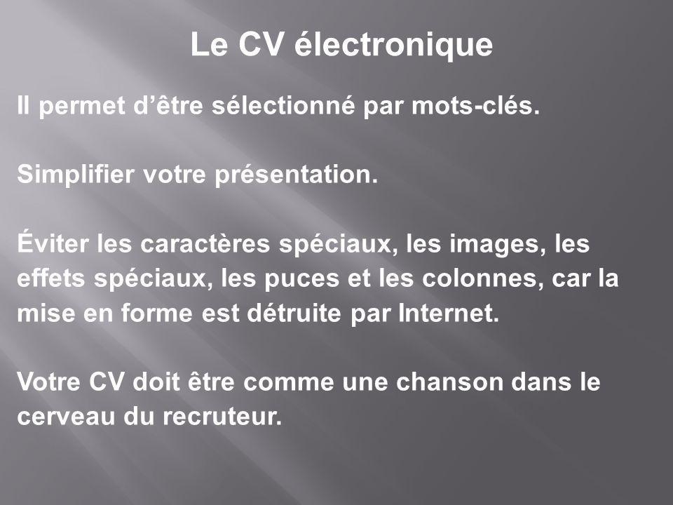 Le CV électronique