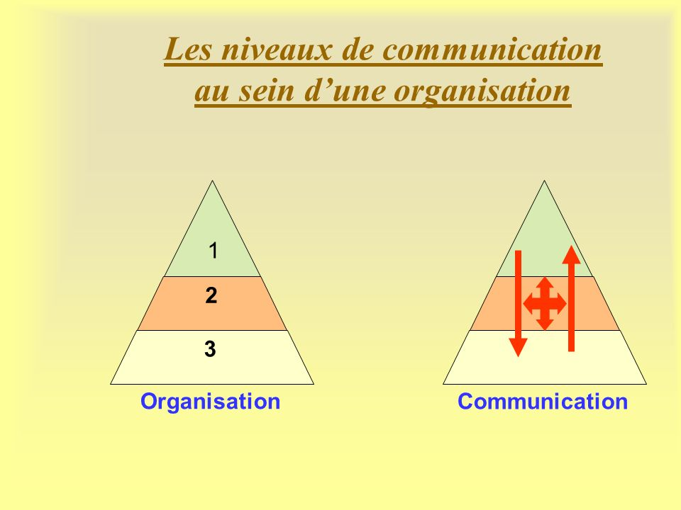 Les niveaux de communication au sein d'une organisation