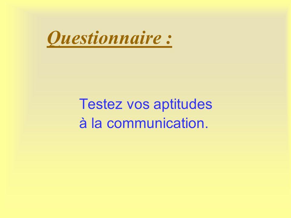 Questionnaire : Testez vos aptitudes à la communication.