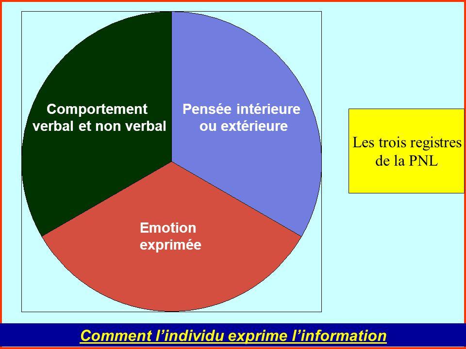 Comment l'individu exprime l'information