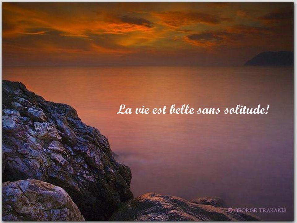 La vie est belle sans solitude!