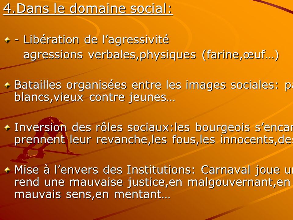 4.Dans le domaine social: