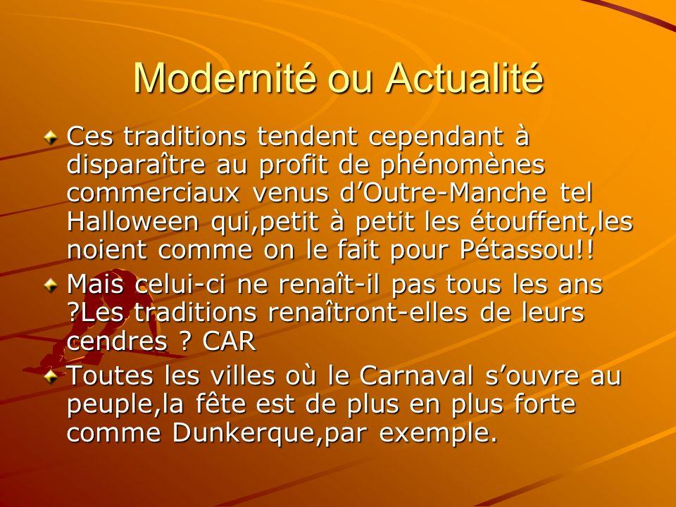 Modernité ou Actualité