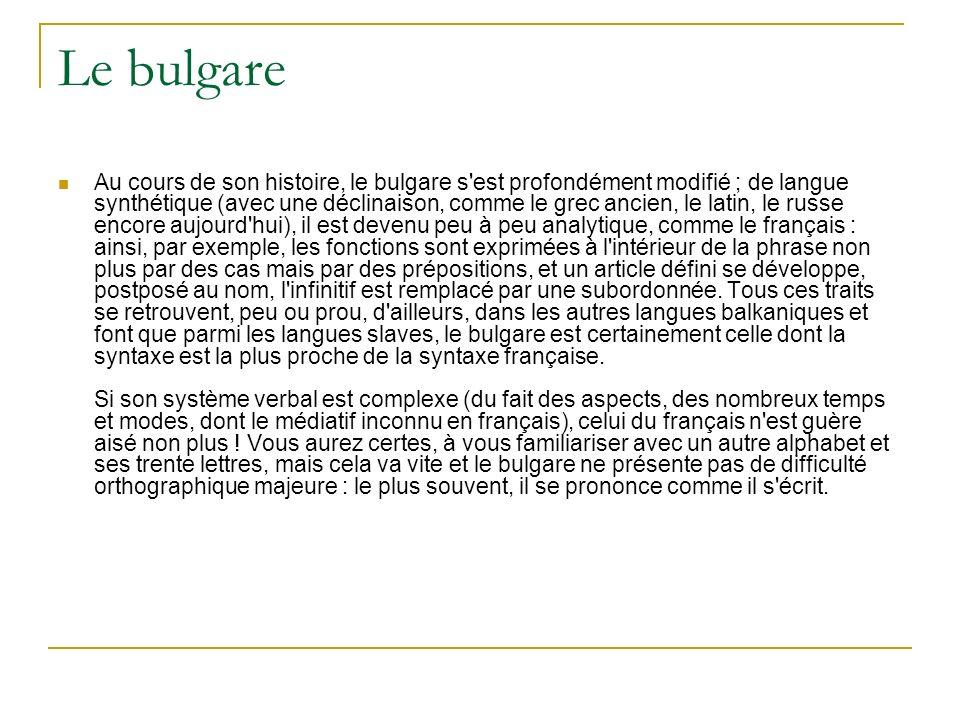 Le bulgare