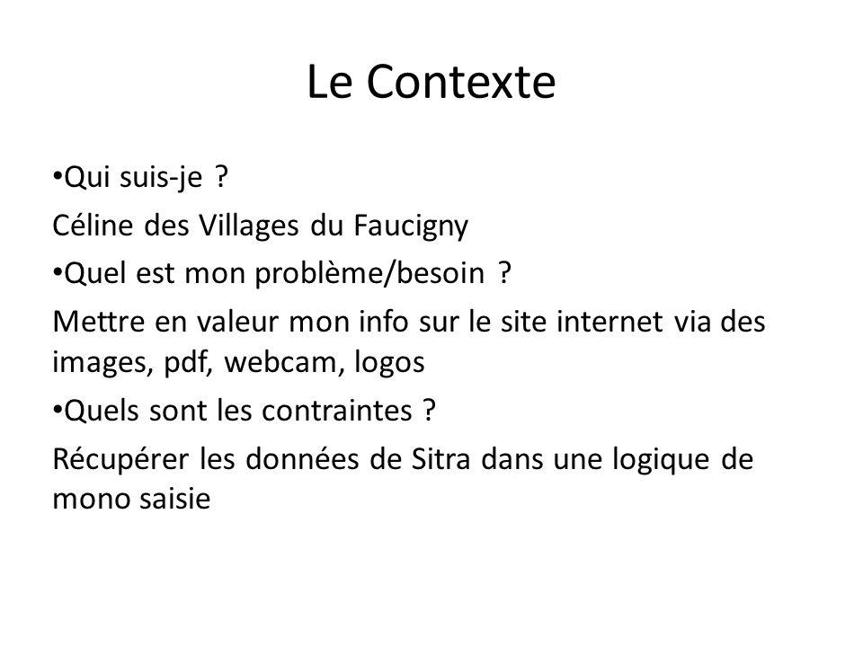Le Contexte Qui suis-je Céline des Villages du Faucigny