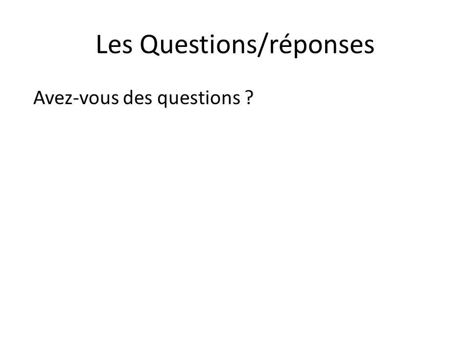 Les Questions/réponses