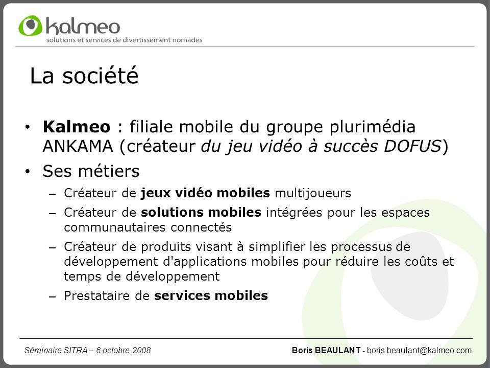 La société Kalmeo : filiale mobile du groupe plurimédia ANKAMA (créateur du jeu vidéo à succès DOFUS)